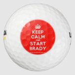[Crown] keep calm and start brady  Golf Balls Pack Of Golf Balls