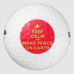 [Xmas tree] keep calm and make peace on earth  Golf Balls Pack Of Golf Balls