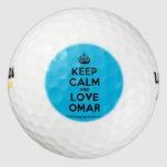 [Crown] keep calm and love omar  Golf Balls Pack Of Golf Balls