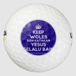 [Crown] keep woles dan katakan yesus selalu baik  Golf Balls Pack Of Golf Balls