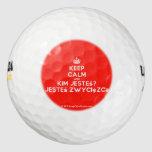 [Crown] keep calm and kim jesteś? jesteś zwycięzcą  Golf Balls Pack Of Golf Balls
