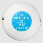 [Cupcake] keep calm my birthday is in 9 days!!  Golf Balls Pack Of Golf Balls