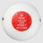 [Crown] keep calm gimme money bitches  Golf Balls Pack Of Golf Balls