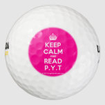 [Crown] keep calm and read p.y.t  Golf Balls Pack Of Golf Balls
