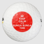 [Crown] keep calm it's bunga bunga time  Golf Balls Pack Of Golf Balls