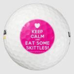 [Love heart] keep calm and eat some skittles!  Golf Balls Pack Of Golf Balls