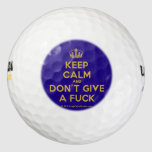 [Dancing crown] keep calm and don't give a fuck  Golf Balls Pack Of Golf Balls