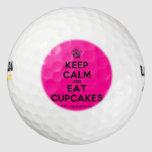 [Cupcake] keep calm and eat cupcakes  Golf Balls Pack Of Golf Balls