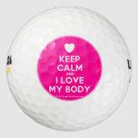 [Love heart] keep calm and i love my body  Golf Balls Pack Of Golf Balls