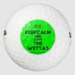 [UK Flag] keepcalm and love the wettas  Golf Balls Pack Of Golf Balls