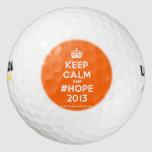 [Crown] keep calm and #hope 2013  Golf Balls Pack Of Golf Balls