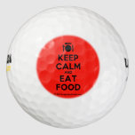 [Cutlery and plate] keep calm and eat food  Golf Balls Pack Of Golf Balls