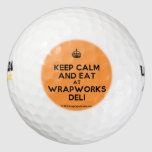 [Crown] keep calm and eat at wrapworks deli  Golf Balls Pack Of Golf Balls
