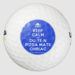 [Skull crossed bones] keep calm and du-te-n pizda matii chiriac  Golf Balls Pack Of Golf Balls