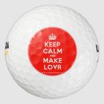 [Crown] keep calm and make lovr  Golf Balls Pack Of Golf Balls