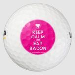 [Chef hat] keep calm and eat bacon  Golf Balls Pack Of Golf Balls