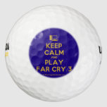 [Computer] keep calm and play far cry 3  Golf Balls Pack Of Golf Balls