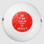 [Crown] f*#k calm today is result  Golf Balls Pack Of Golf Balls