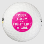 keep calm and fight like a girl  Golf Balls Pack Of Golf Balls