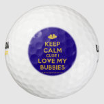 [Two hearts] keep calm cuse i love my bubbies  Golf Balls Pack Of Golf Balls
