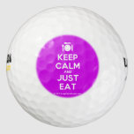 [Cutlery and plate] keep calm and just eat  Golf Balls Pack Of Golf Balls
