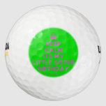 [Crown] keep calm its my little sister birthday  Golf Balls Pack Of Golf Balls