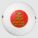 [Cutlery and plate] keep calm and don't eat my face  Golf Balls Pack Of Golf Balls