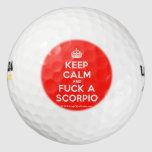 [Crown] keep calm and fuck a scorpio  Golf Balls Pack Of Golf Balls
