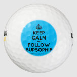 [Crown] keep calm and follow supsophie  Golf Balls Pack Of Golf Balls