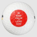[Cupcake] keep calm and love god  Golf Balls Pack Of Golf Balls