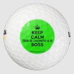 [Crown] keep calm que o jacinto é o boss  Golf Balls Pack Of Golf Balls
