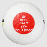 [Crown] keep calm and eat your food  Golf Balls Pack Of Golf Balls