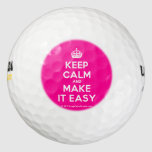 [Crown] keep calm and make it easy  Golf Balls Pack Of Golf Balls