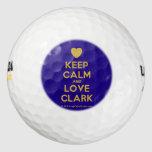 [Love heart] keep calm and love clark  Golf Balls Pack Of Golf Balls