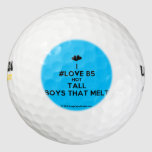 [Two hearts] i #love b5 hot tall boys that melt  Golf Balls Pack Of Golf Balls