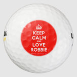 [Crown] keep calm and love robbie  Golf Balls Pack Of Golf Balls