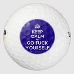 [Crown] keep calm and go fuck yourself  Golf Balls Pack Of Golf Balls
