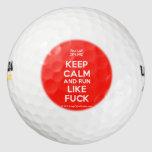 [UK Flag] keep calm and run like fuck  Golf Balls Pack Of Golf Balls