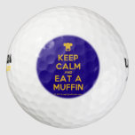 [Chef hat] keep calm and eat a muffin  Golf Balls Pack Of Golf Balls