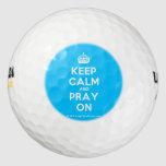 [Crown] keep calm and pray on  Golf Balls Pack Of Golf Balls
