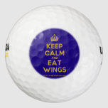 [Crown] keep calm and eat wings  Golf Balls Pack Of Golf Balls