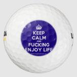 [Crown] keep calm and fucking enjoy life  Golf Balls Pack Of Golf Balls
