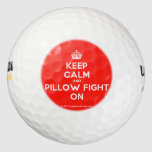 [Crown] keep calm and pillow fight on  Golf Balls Pack Of Golf Balls
