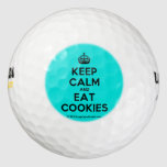 [Crown] keep calm and eat cookies  Golf Balls Pack Of Golf Balls