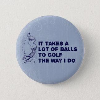 Golf Balls Pinback Button