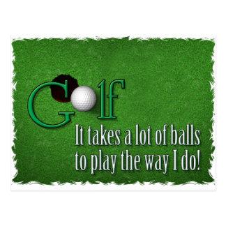 golf balls postcard