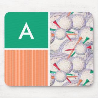 Golf Balls Tees Pattern Mouse Pad