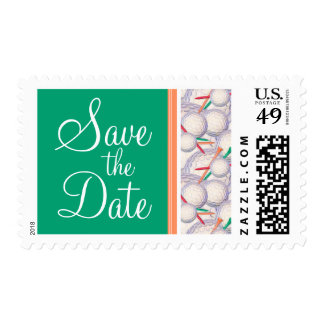 Golf Balls & Tees Pattern Postage