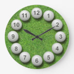 Golf Balls Timepiece Wallclock