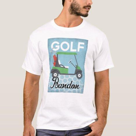 Golf Bandon Oregon - Retro Vintage Travel T-Shirt